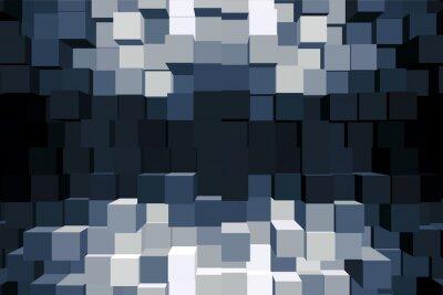 Bild Sfondo cubico monocromatico.
