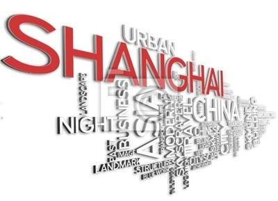 Bild Shanghai - 3D-Typografie