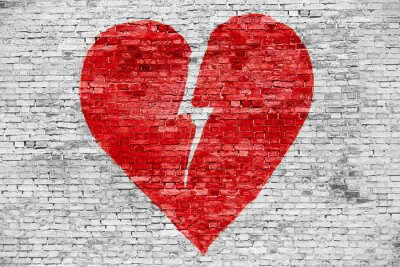 Bild Shape of broken heart