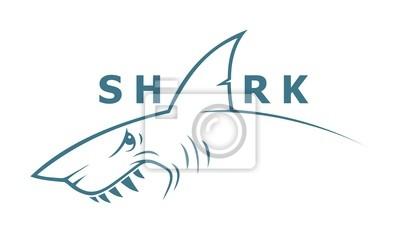 Shark Banner - Vektor-Illustration