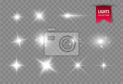 Bild Shine glowing stars. Vector lights