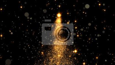 Bild shining star Christmas tree. 3d rendering