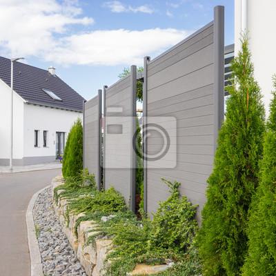 Sichtschutzwand Im Garten Leinwandbilder Bilder Abgrenzung
