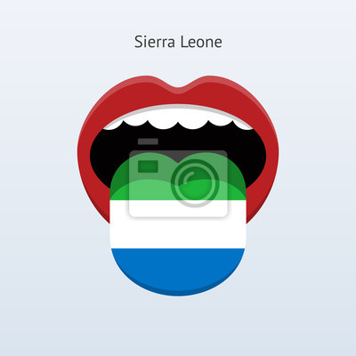 Sierra Leone Sprache. Abstrakt menschliche Zunge.