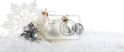 Silber Christbaumkugeln