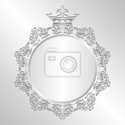 Bild Silber Hintergrund mit Krone