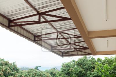 Silberfolie Isolierung Hitze Auf Decke Dach Haus Leinwandbilder