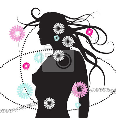 Silhouette der Frau