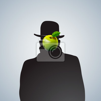 Silhouette der Mann mit Gesicht dunkel, EPS 10 Bild.