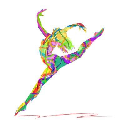 Bild Silhouette di Ballerina composta da colori