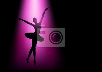 Silhouette Illustration einer Ballerina