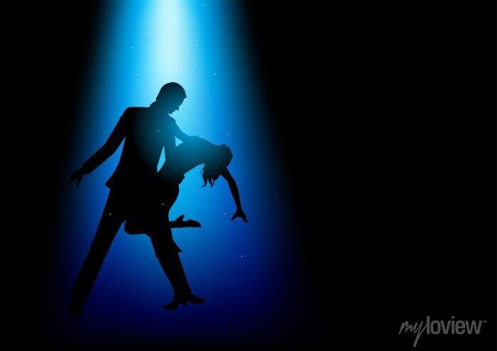Bild Silhouette Illustration eines Paares tanzen