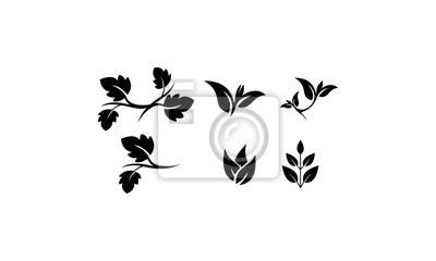 Bild silhouette logo branch