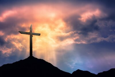 Bild Silhouette of Cross at Sunrise