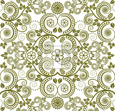 Bild silhouette of floral pattern seamless
