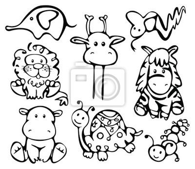 Bild Silhouetten von Tieren.