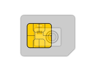 Sim Karte Telekom.Bild Sim Karte Isoliert Auf Weiß