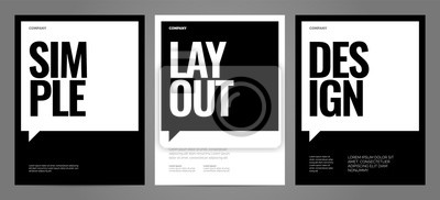 Bild Simple template design with typography for poster, flyer or cover.
