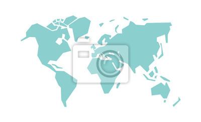 Bild Simplified world map. Stylized vector illustration