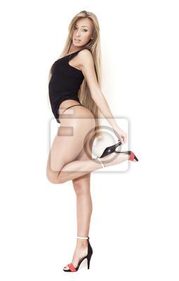 Heels Blonden Haaren BildSinnliches In High Mit Langen Mädchen ybfIYvm6g7