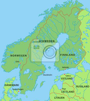 Karte Skandinavien.Bild Skandinavien Karte In Grün