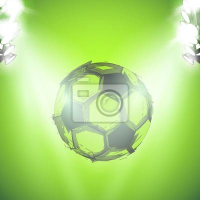 Sketch Soccer ball and lightstage easy editable
