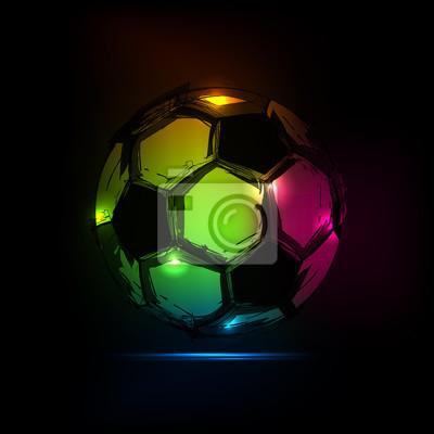 Sketch Soccer Ball Licht Design einfach alle editierbar