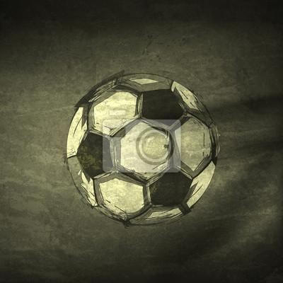 Sketch Tinte Fußball, leicht bearbeitet werden