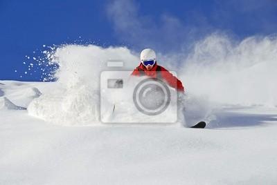 Bild Skifahrer im Tiefschnee
