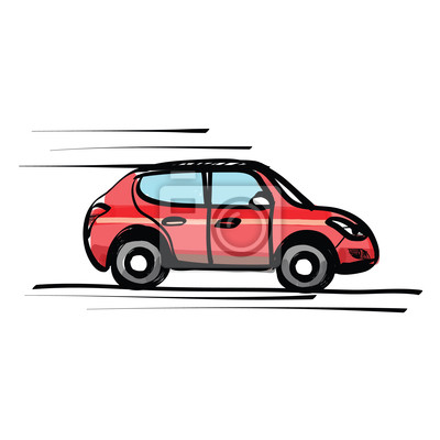 Skizze auto hand gezeichnet leinwandbilder • bilder coupe, Motor ...