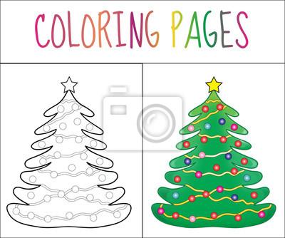Skizze und farbversion. färben für kinder. abbildung leinwandbilder ...
