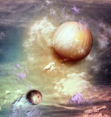 Bild Sky with planets