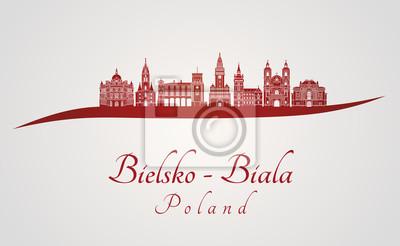 Bild Skyline von Bielsko-Biala in Rot