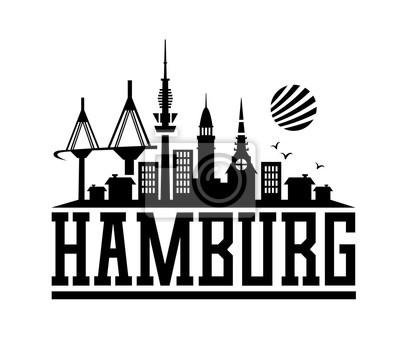 skyline von hamburg leinwandbilder bilder hamburg. Black Bedroom Furniture Sets. Home Design Ideas