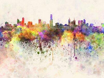 Bild Skyline von Melbourne in Aquarell-Hintergrund