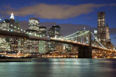 Bild Skyline Von New York   Brooklyn Bridge