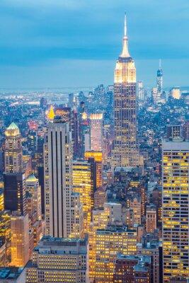 Bild Skyline von New York Dämmerung USA