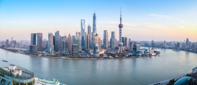 Bild Skyline von Shanghai Panoramablick