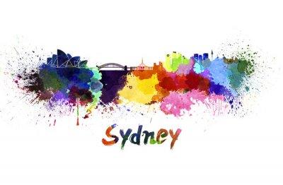 Bild Skyline von Sydney in Aquarell