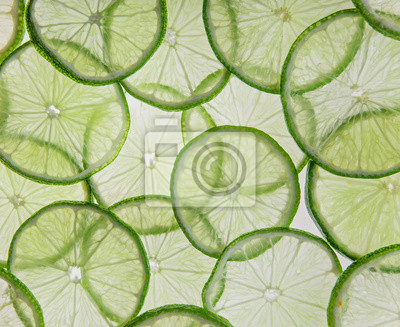 Bild Sliced fruits background