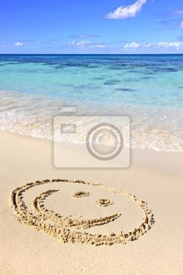 Bild Smiley am Strand