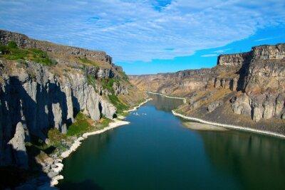 Bild Snake River und seine Schlucht ab Shoshone Falls in der Nähe von Twin Falls, Idaho gesehen