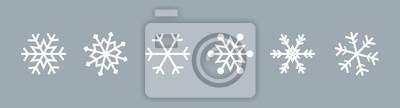 Bild Snowflake set on isolated background. Isolated snowflake collection. Frost background. Christmas icon. Vector illustration