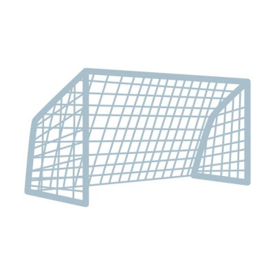 soccer arch football isolated icon