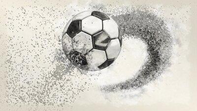 Bild Soccer ball illustration combined pencil sketch and watercolor sketch. 3D illustration. 3D CG. High resolution.