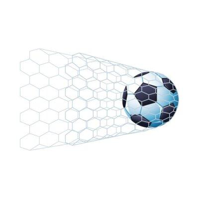 soccer balloon sport championship in goal net