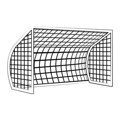 Soccer football goal sport equipment in black and white