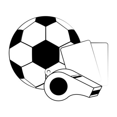 Soccer football sport game concept in black and white