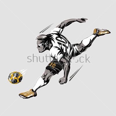 Bild Soccer player power kick