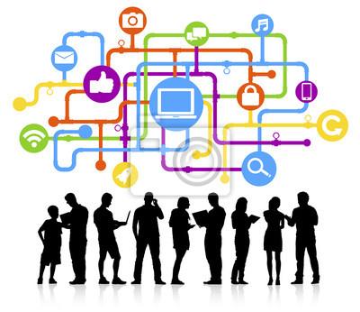 Bild Social Media Connection Vektor